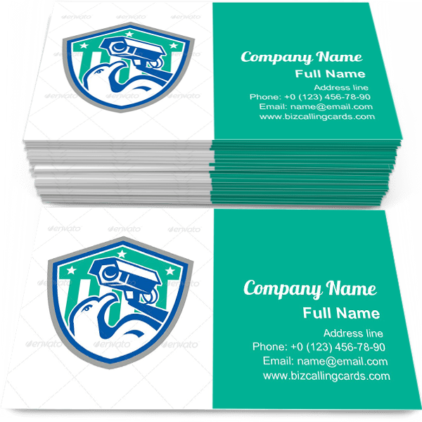 Sample of Eagle Security CCTV business card design for advertisements marketing ideas and promote surveillance branding identity