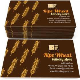 Ears Of Ripe Wheat Business Card Template
