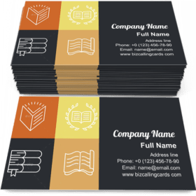 Education Emblems Business Card Template