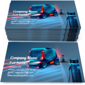 Electric Charging Station Business Card Template