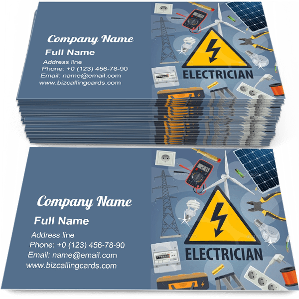✅ Free Electric Service Business Card Template Maker