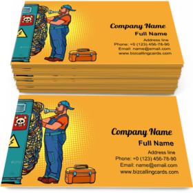 Electrician Technician Business Card Template