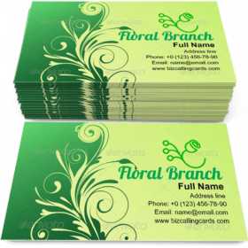 Elegant floral branch Business Card Template