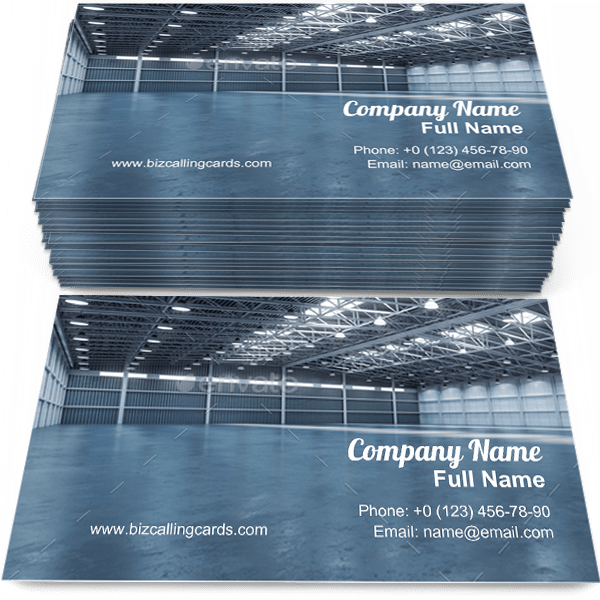 Sample of Empty warehouse business card design for advertisements marketing ideas and promote construction branding identity
