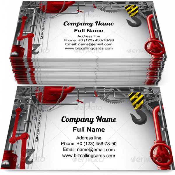 Sample of Engineering with gears business card design for advertisements marketing ideas and promote Machine industrial branding identity