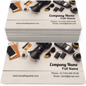 Equipment for photographer Business Card Template
