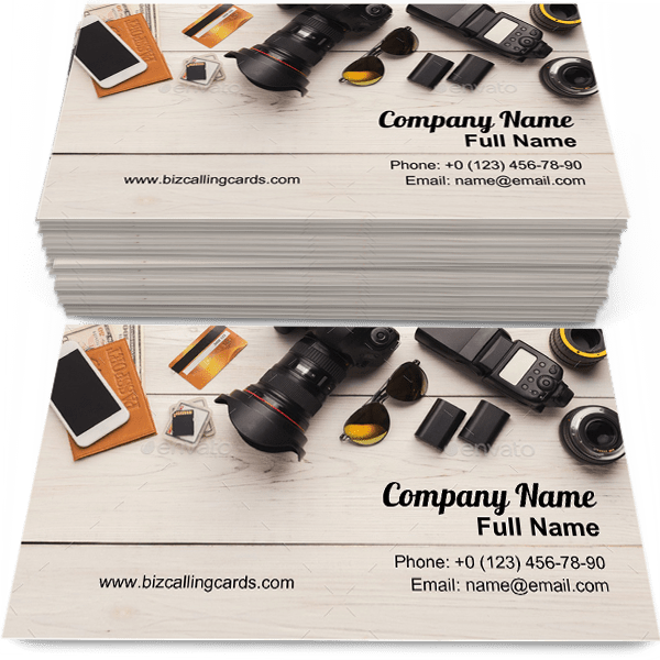 Sample of Equipment for photographer business card design for advertisements marketing ideas and promote creative designer branding identity