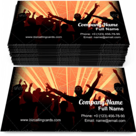 Excited party crowd Business Card Template