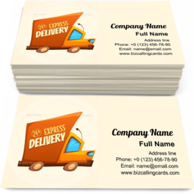 Express Delivery Truck Business Card Template