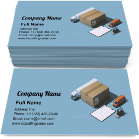 Express delivery service Business Card Template