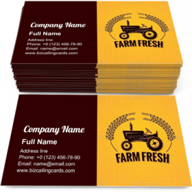 Farm Fresh Tractor Business Card Template