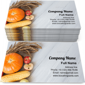Farm products Business Card Template