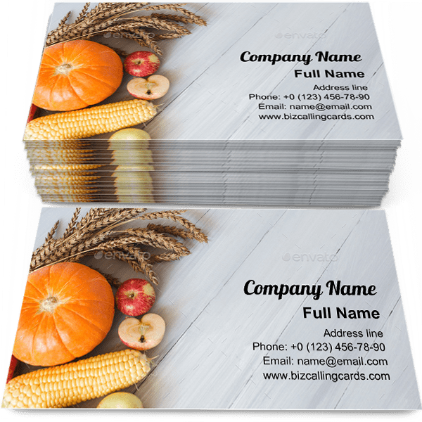 Sample of Farm products calling card design for advertisements marketing ideas and promote organic agriculture branding identity