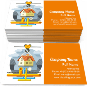 Fast Flat House Business Card Template
