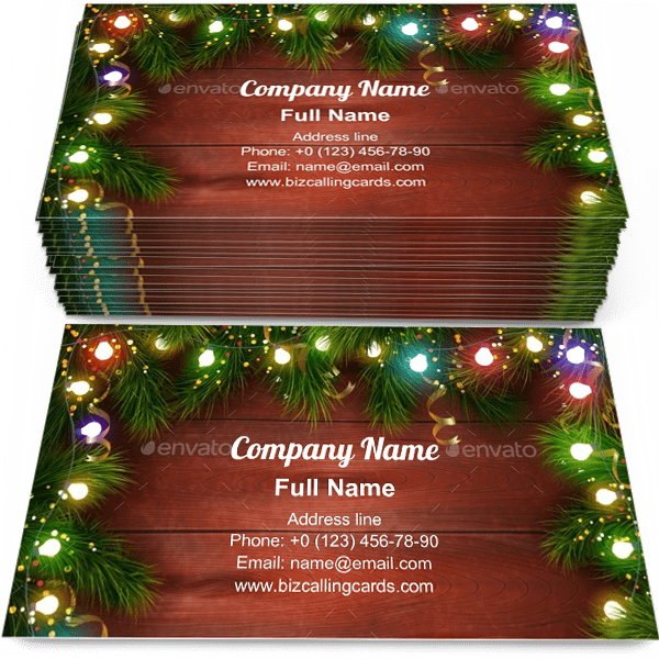 Sample of Festive Chrtismas celebrating business card design for advertisements marketing ideas and promote Christmas branding identity
