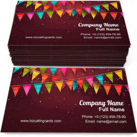 Festive with flags Business Card Template