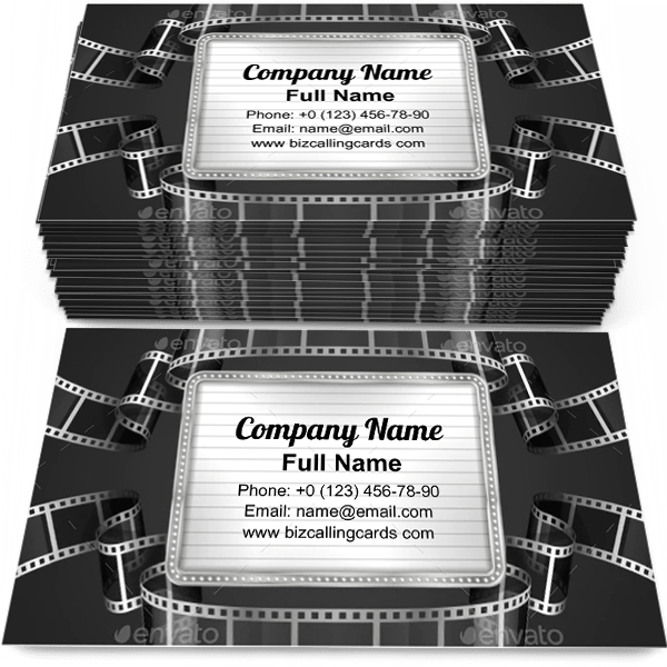 Sample of Film Strip Business calling card design for advertisements marketing ideas and promote cinematography branding identity