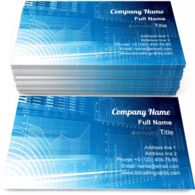 Financial Background Business Card Template