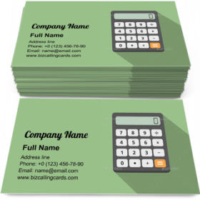 Flat Design Calculator Business Card Template