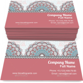 Floral Oriental ornament Business Card Template