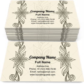Floral border ornament Business Card Template