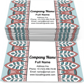Floral ethnic pattern Business Card Template