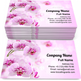 Floral of tropical orchids Business Card Template
