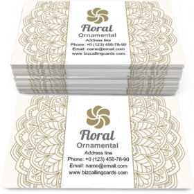 Floral ornamental Pattern Business Card Template