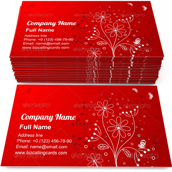 Sample of Floral with butterfly calling card design for advertisements marketing ideas and promote flourishes branding identity