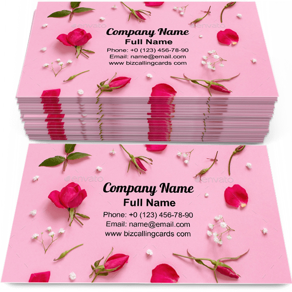 Sample of Flowers and petals calling card design for advertisements marketing ideas and promote decoration branding identity