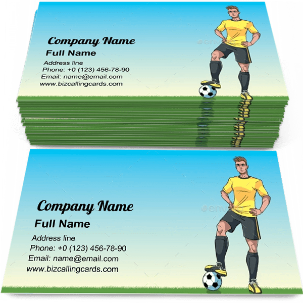 Football Player Business Card Template