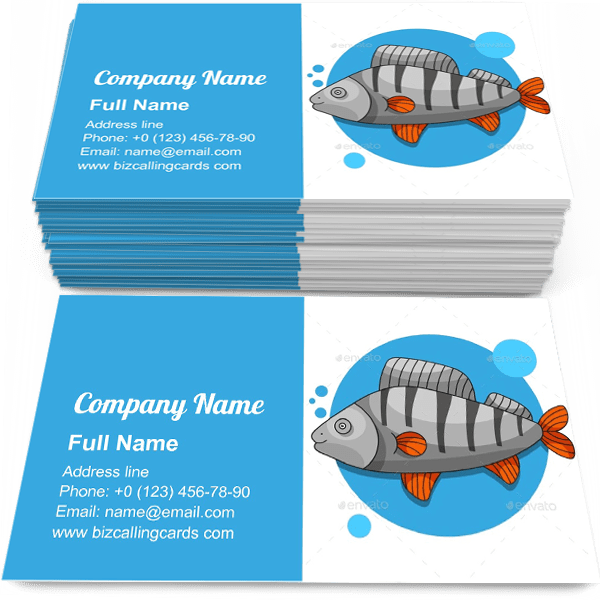 Freshwater Yellow Perch Business Card Template