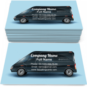 Futuristic Commercial Minibus Business Card Template