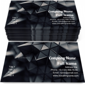 Futuristic polygonal shape Business Card Template