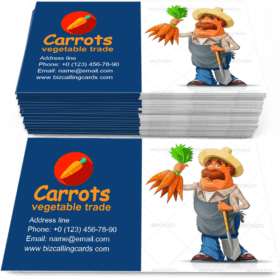 Gardener with Carrots Business Card Template
