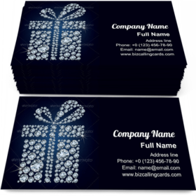 Gift present of diamonds Business Card Template