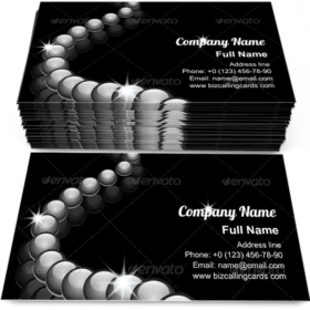Glass Beads Jewelry Business Card Template