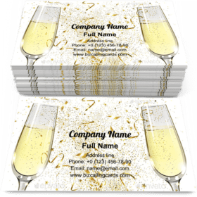 Glasses of Champagne Business Card Template