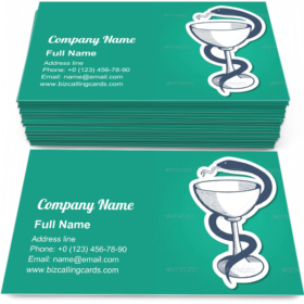 Goblet and Snake Business Card Template