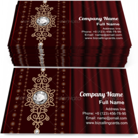 Gold Jewelry on Drape Business Card Template