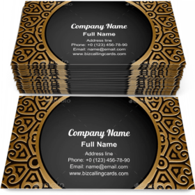 Gold ornamental frame Business Card Template