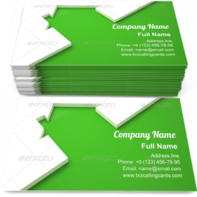 Green Ecologic home Business Card Template