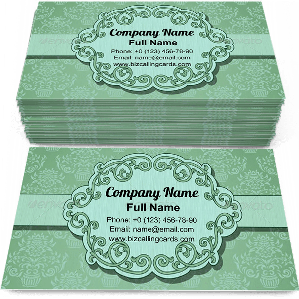 Example of Vintage Business Card Template