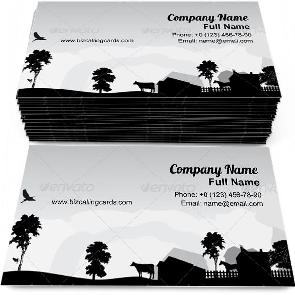 Sample of Grey Trees and Village business card design for advertisements marketing ideas and promote agriculture branding identity