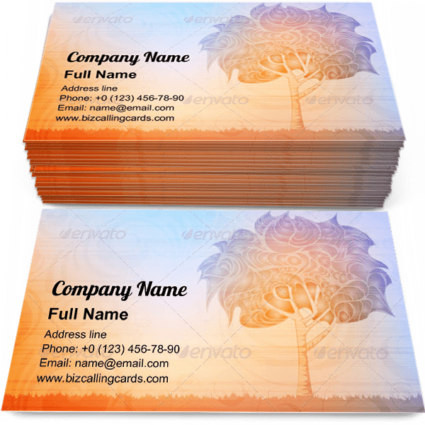 Sample of Growth Abstract Tree calling card design for advertisements marketing ideas and promote nature branding identity