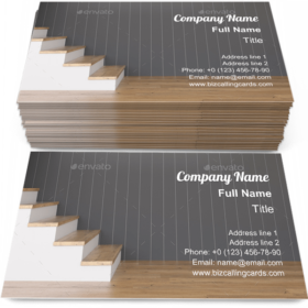Hall stair construction Business Card Template