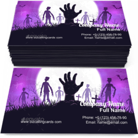 Halloween Zombies and Hand Business Card Template