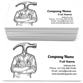 Hammer Head Worker Business Card Template