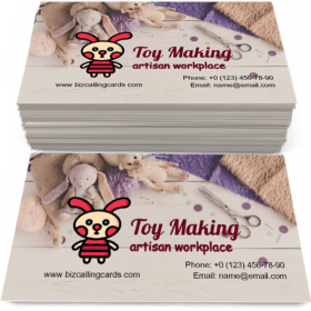Handmade toy making Business Card Template