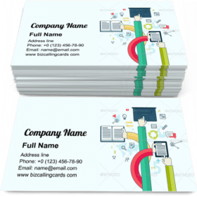 Hands communication Education Business Card Template